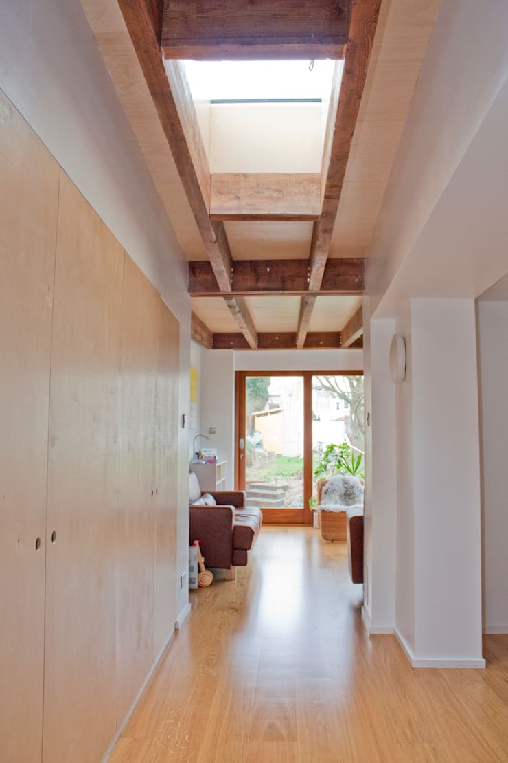Architect's House in Bristol by DHV Architects:  Corridor & hallway by Dittrich Hudson Vasetti Architects