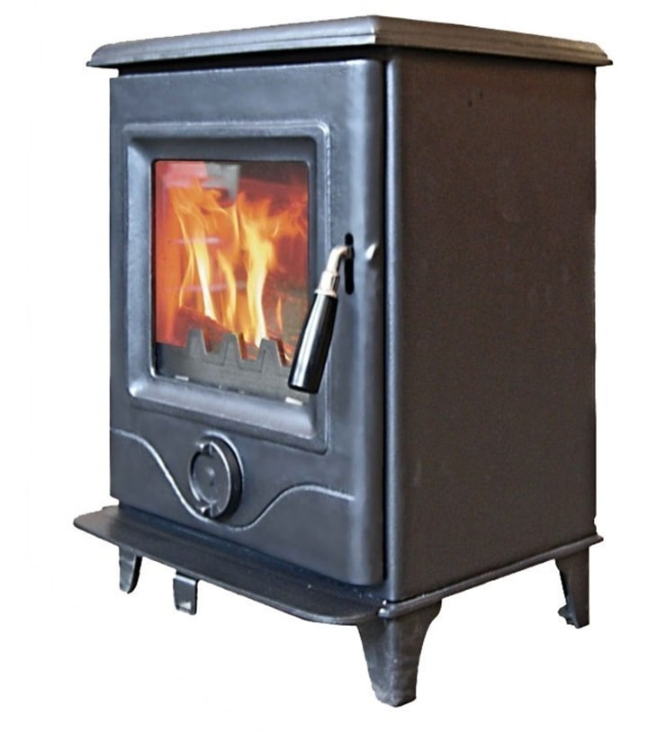 Horse Flame Precision 1 DEFRA Approved Multifuel Stove:  Living room by Direct Stoves