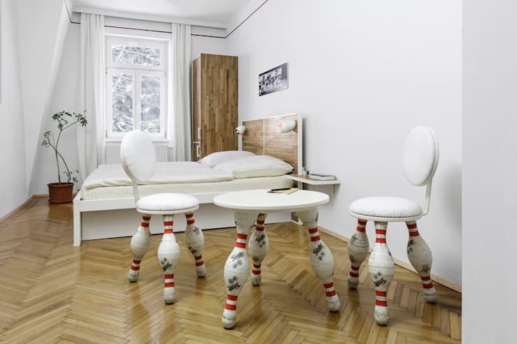 ​Zimmer Nr. 9: The Big Lebowski:  Hotels von gabarage upcycling design,