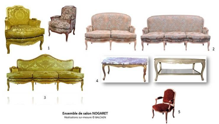 Ensemble de salon NOGARET: Salon de style  par BALCAEN Mobilier de style, Paris