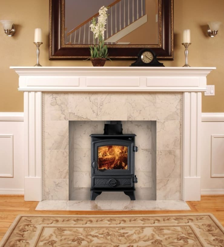 Hunter Hawk 4 Wood Burning Stove:  Living room by Direct Stoves