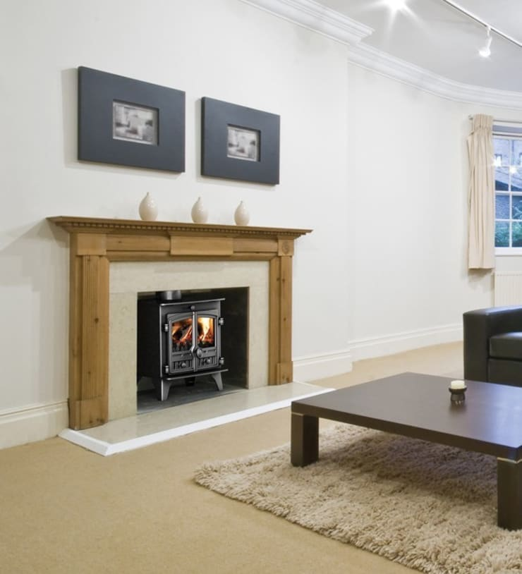 Hunter Compact 5 Wood Burning Stove:  Living room by Direct Stoves