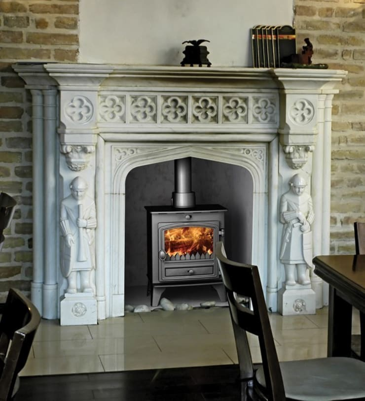 Hunter Compact 5 DEFRA Approved Multi Fuel Stove:  Living room by Direct Stoves