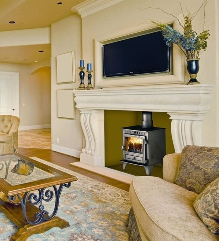 Hunter Herald 4 Wood Burning Stove:  Living room by Direct Stoves