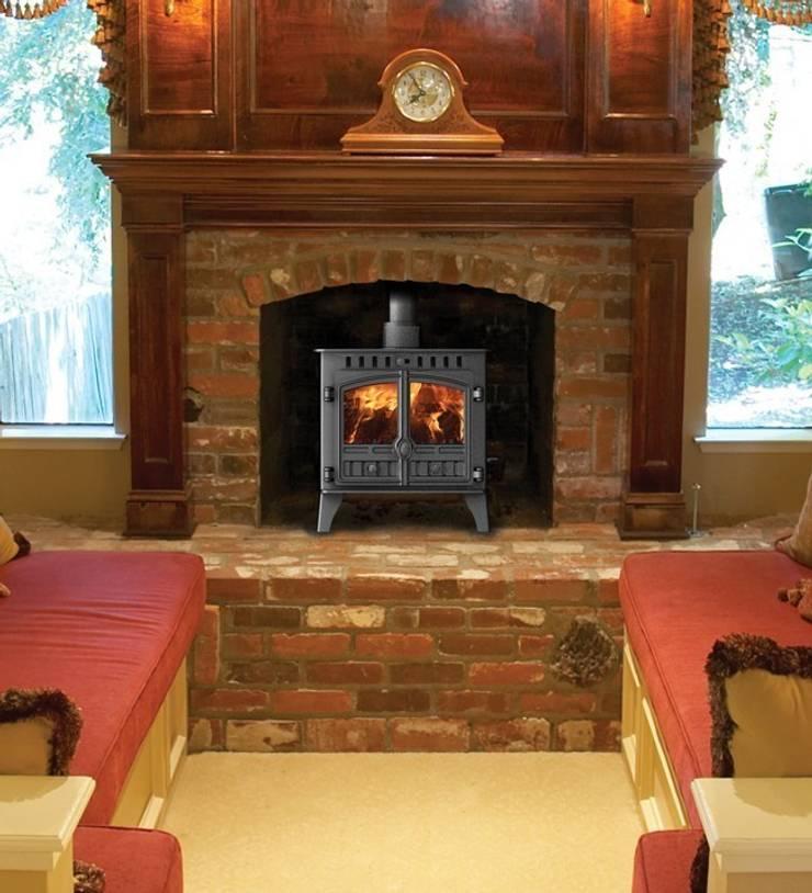 Hunter Herald 5 Slimline Wood Burning Stove:  Living room by Direct Stoves