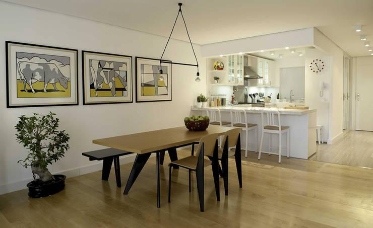 Paker Mimarlık – ABHARY EVİ: modern tarz Yemek Odası