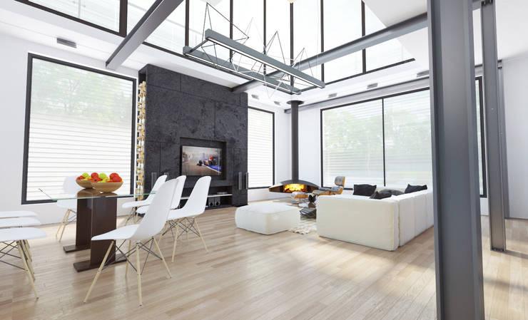 Частная вилла: Гостиная в . Автор – Diamir Interiors, Модерн