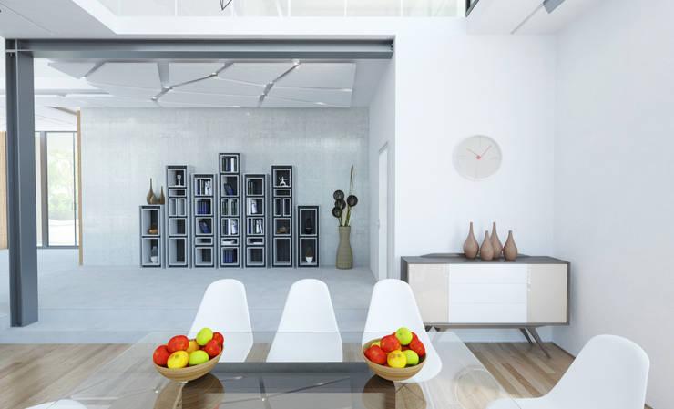 Частная вилла: Столовые комнаты в . Автор – Diamir Interiors, Модерн