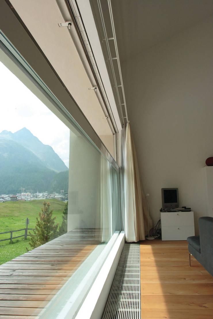 Villa near St Moritz, Switzerland:  Windows & doors  by Descender Fronts by Kollegger