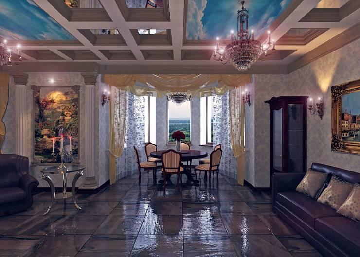 гостиная в частном доме:  в . Автор – частный дизайнер,