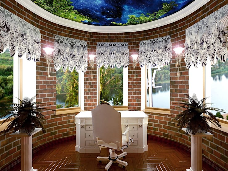 кабинет в частном доме:  в . Автор – частный дизайнер,