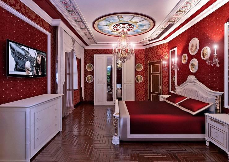 спальня в частном доме:  в . Автор – частный дизайнер,