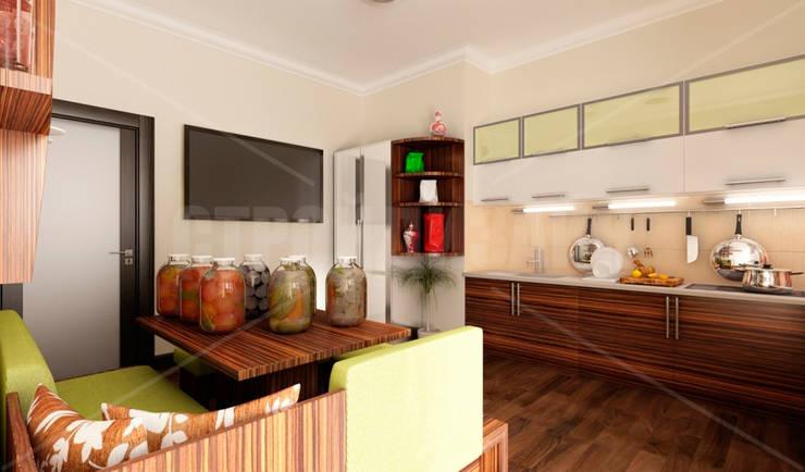 дизайн интерьера трехкомнатной квартиры: Кухни в . Автор – СТРОЙДИЗАЙН