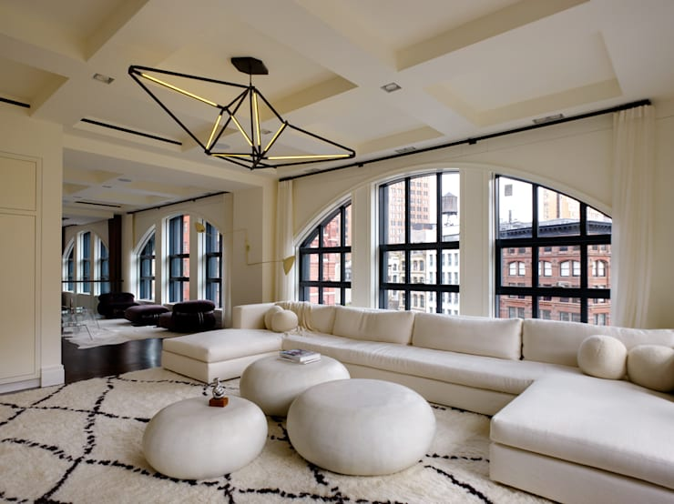 Franklin Street, New York:  Living room by studioMDA
