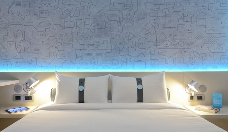 Mock-up Room 4: Hôtels de style  par turchetti d'aragon architectes