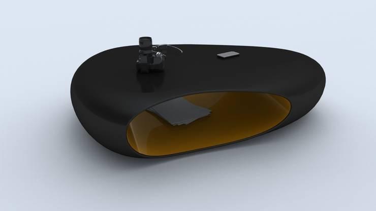 Tavolino BULLET: Soggiorno in stile  di Studio Ferrante Design