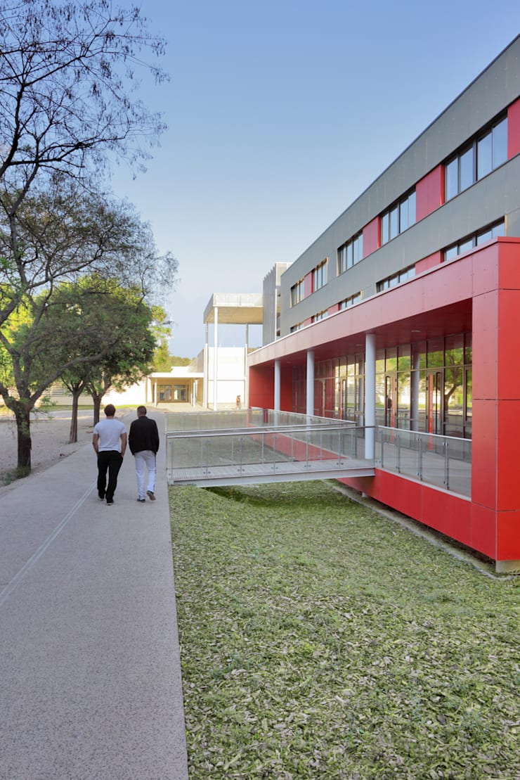 Au Nord: Ecoles de style  par  Hellin Sebbag architectes associés