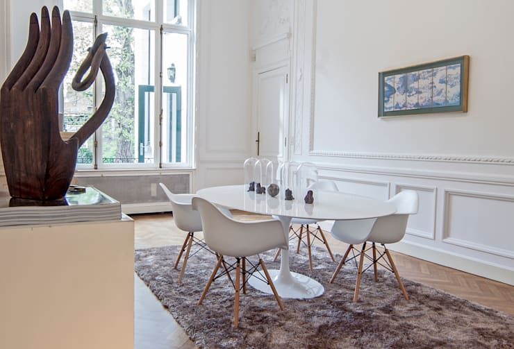 eclectic Dining room by edit home staging
