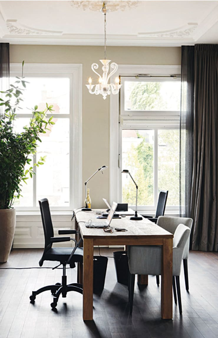 werkkamer:  Studeerkamer/kantoor door choc studio interieur