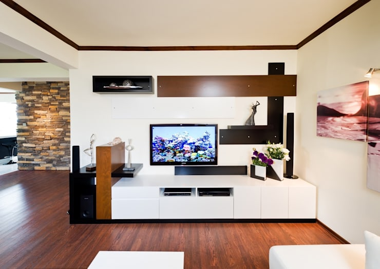Şölen Üstüner İç mimarlık – Sezinler ev: modern tarz Oturma Odası