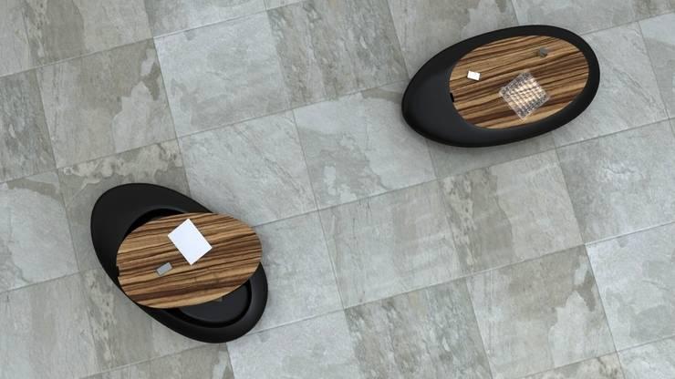 Tavolino DROP: Soggiorno in stile  di Studio Ferrante Design