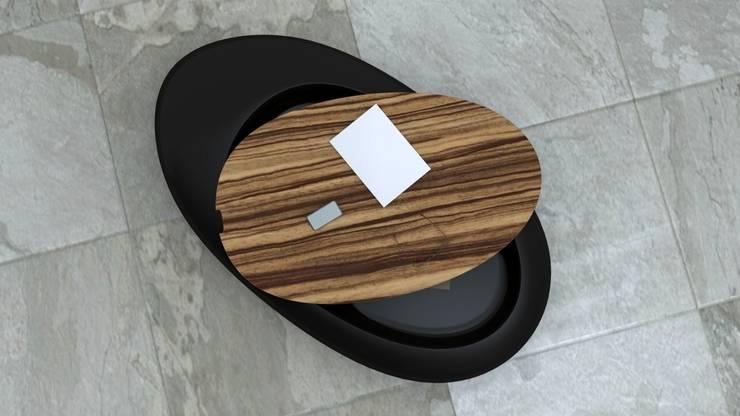 Tavolino DROP: Soggiorno in stile in stile Moderno di Studio Ferrante Design