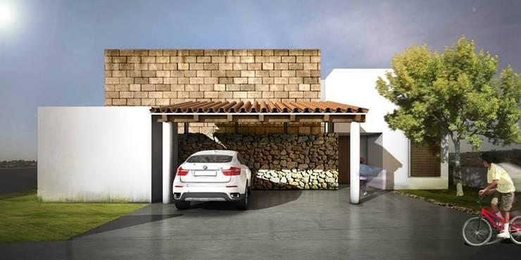 Hacienda Cantalagua: Casas de estilo  por REA + m3 Taller de Arquitectura