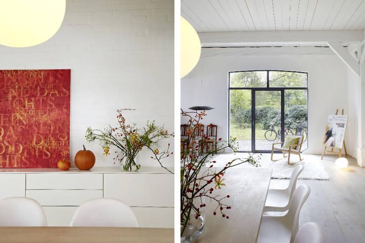 Umbau und Sanierung eines Fachhallenhauses:  Esszimmer von BUB architekten bda,Minimalistisch