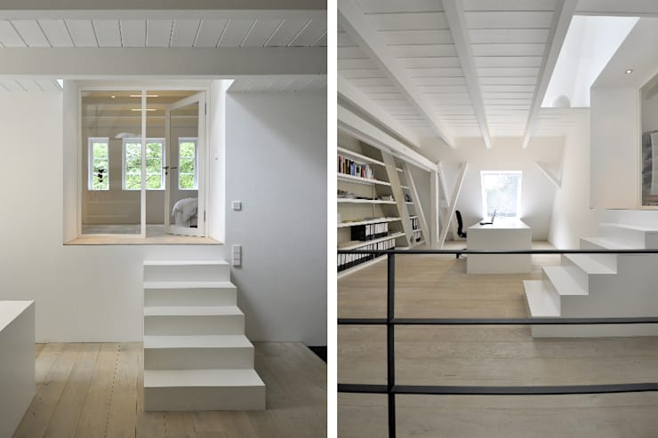 Umbau und Sanierung eines Fachhallenhauses:  Arbeitszimmer von BUB architekten bda,Minimalistisch