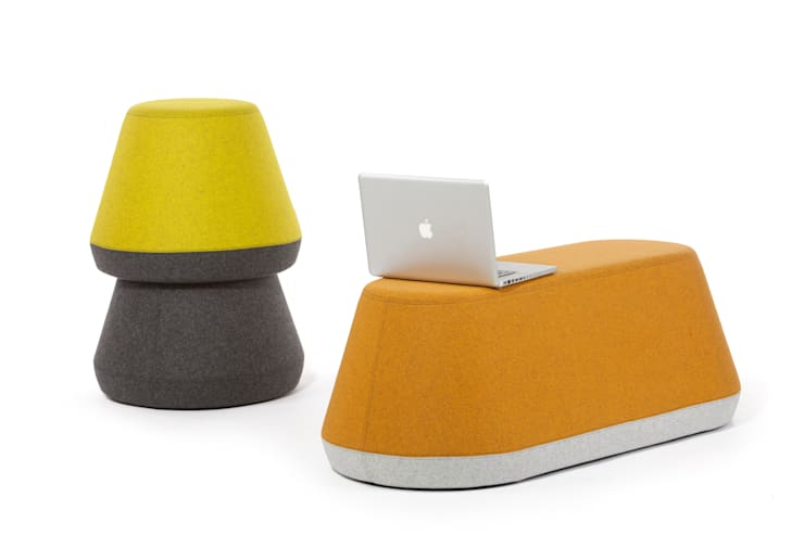 HYde Stacking Stool:  Multimedia room by Assemblyroom