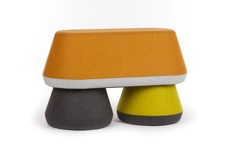 HYde Stacking Stool & Bench:  Interior landscaping by Assemblyroom