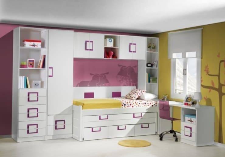 todas las medidas y colores varios tipòs de camas nido,compactos : Dormitorios de estilo  de muebles dalmi decoracion s l