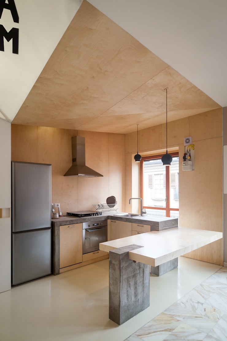 IPAHIM: Cucina in stile  di BLA! UFFICIO DI ARCHITETTURA, Moderno