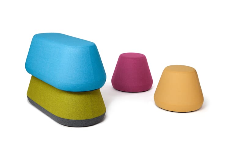 Hyde Stacking Stool & Bench:  Multimedia room by Assemblyroom