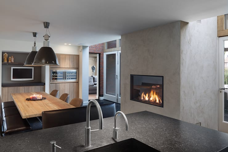 project 'Laren': minimalistische Keuken door Boley
