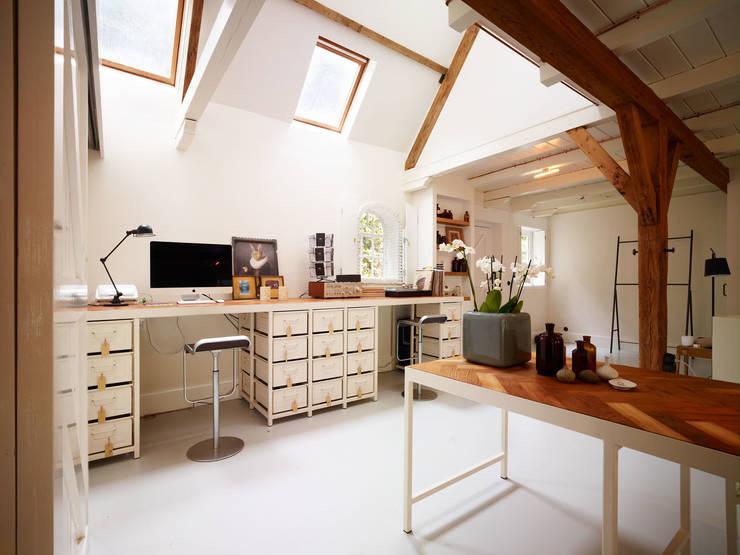 Stalen bureau: industriële Studeerkamer/kantoor door Exclusive Steel