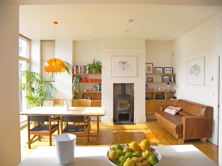 House for a mathematician in Bristol: modern Dining room by Dittrich Hudson Vasetti Architects