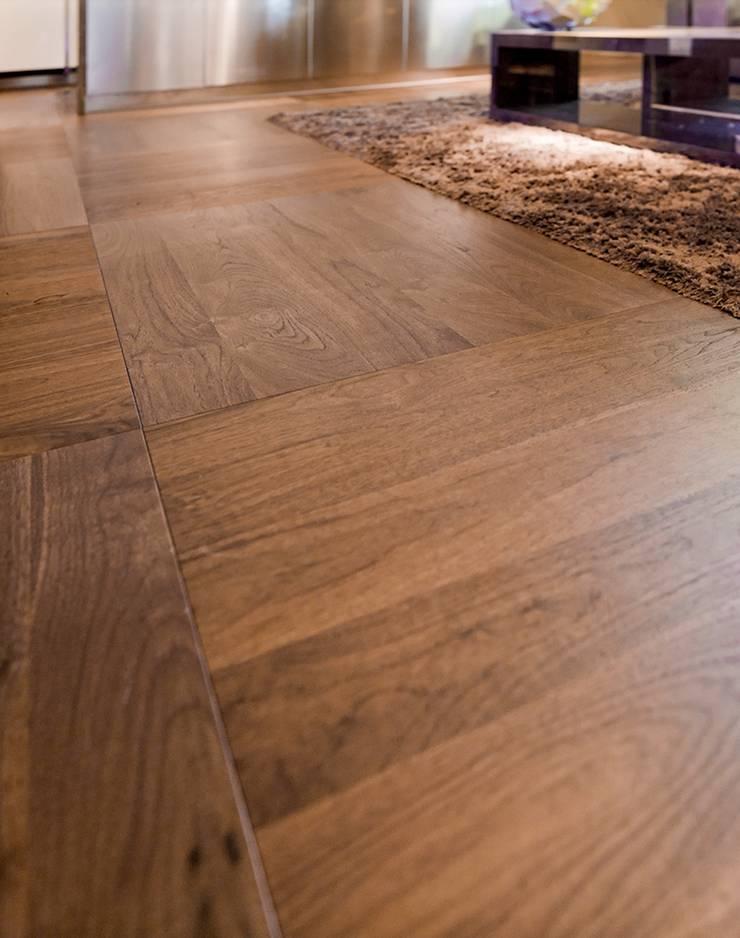 TRIO PARQUET – STP Wood+ Walnut American Classic: modern tarz Duvar & Zemin