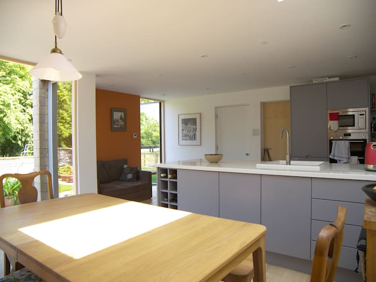 Eco extension to 1960's townhouse in Bristol:  Dining room by Dittrich Hudson Vasetti Architects