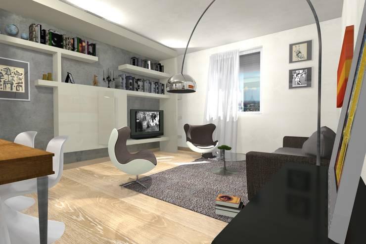 Wohnzimmer von Arch. Emanuele Tona, Modern