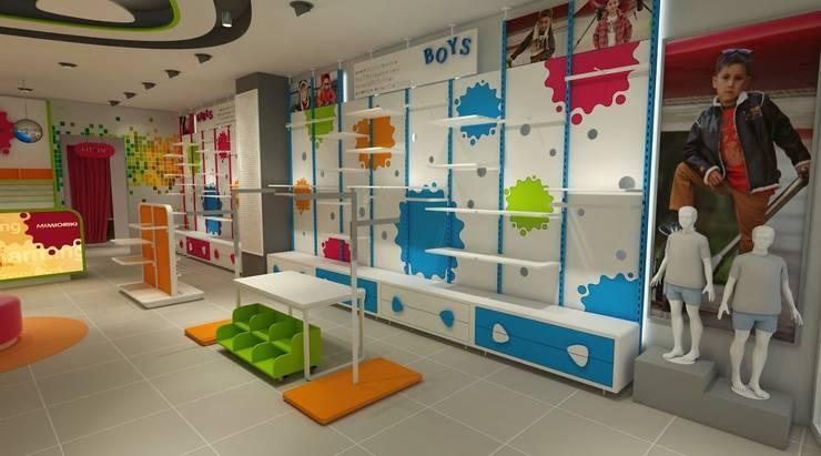cihat özdemir – Çocuk giyim mağazası tasarımı:  tarz