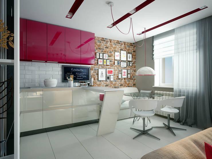 Проект квартиры для молодоженов: Столовые комнаты в . Автор – 'PRimeART'