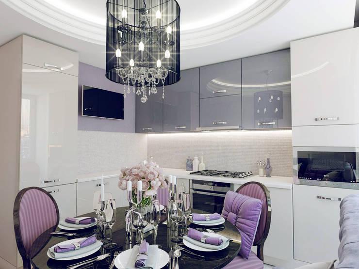 Кухня-столовая:  в . Автор – Volkovs studio