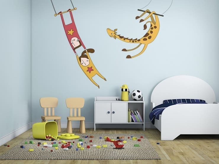 Acróbatas: Habitaciones infantiles de estilo  de Shoptoshop.com