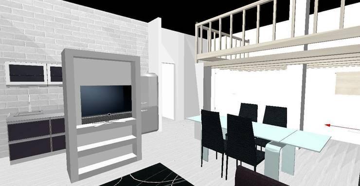 Appartamento Roma Flaminio: Sala da pranzo in stile  di piano a, Moderno