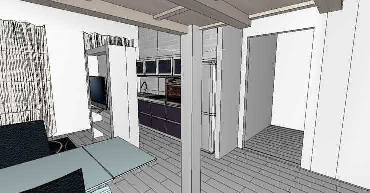 Appartamento Roma Flaminio: Cucina in stile  di piano a, Moderno
