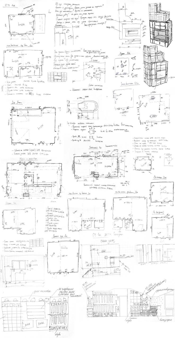 Обмеры и эскизы объекта:  в . Автор – design-family