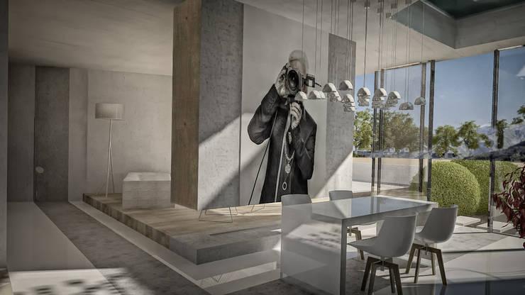 Столовая и гостиная: Столовые комнаты в . Автор – Anastassiya Leonova, Минимализм