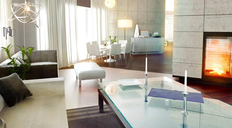 MHD Design Group – Private Villa_46:  tarz Yemek Odası, Modern