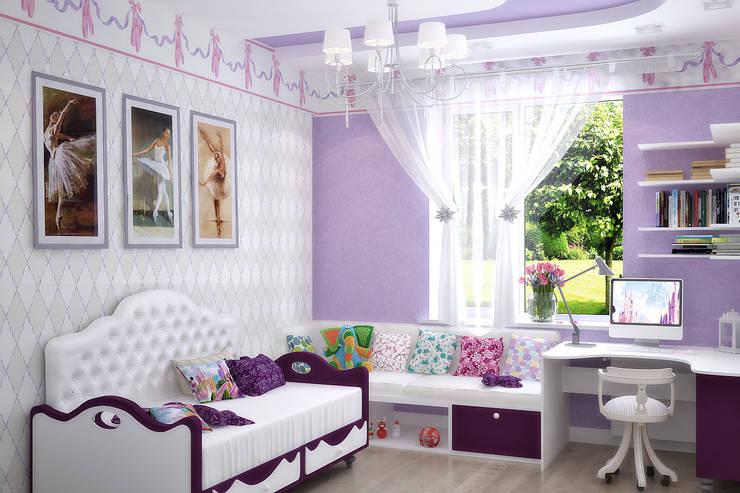 Дом в Средиземноморском стиле в Симферополе: Детские комнаты в . Автор – Студия дизайна Interior Design IDEAS